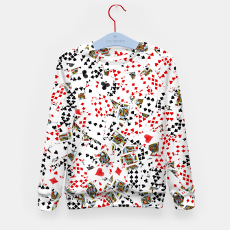Thumbnail image of Playing cards Kid's sweater, Live Heroes