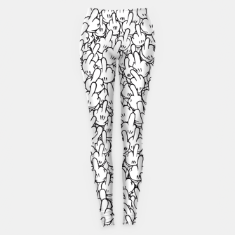 Thumbnail image of Cartoon middle fingers Leggings, Live Heroes