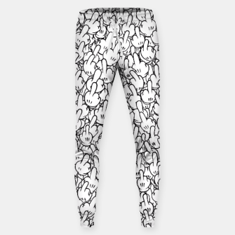 Cartoon middle fingers Sweatpants miniature