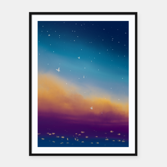 Thumbnail image of Sky Framed poster, Live Heroes