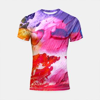 Thumbnail image of Watercolors Shortsleeve rashguard, Live Heroes
