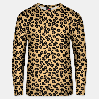 Miniatur Classic Black and Yellow / Brown Leopard Spots Animal Print Pattern Unisex sweater, Live Heroes