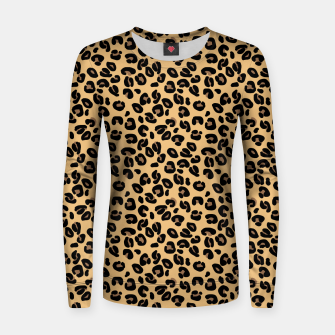 Thumbnail image of Classic Black and Yellow / Brown Leopard Spots Animal Print Pattern Women sweater, Live Heroes