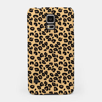 Miniatur Classic Black and Yellow / Brown Leopard Spots Animal Print Pattern Samsung Case, Live Heroes