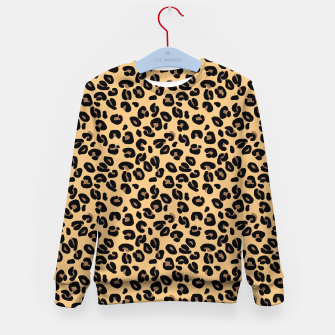 Thumbnail image of Classic Black and Yellow / Brown Leopard Spots Animal Print Pattern Kid's sweater, Live Heroes