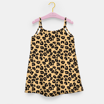 Thumbnail image of Classic Black and Yellow / Brown Leopard Spots Animal Print Pattern Girl's dress, Live Heroes