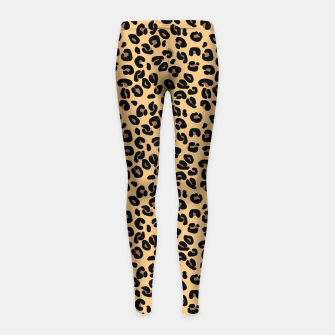 Thumbnail image of Classic Black and Yellow / Brown Leopard Spots Animal Print Pattern Girl's leggings, Live Heroes
