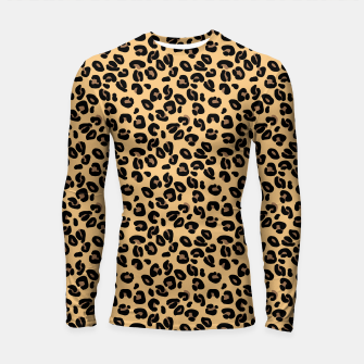 Thumbnail image of Classic Black and Yellow / Brown Leopard Spots Animal Print Pattern Longsleeve rashguard , Live Heroes