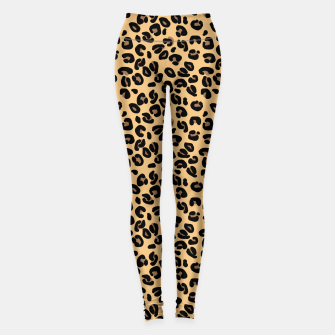 Thumbnail image of Classic Black and Yellow / Brown Leopard Spots Animal Print Pattern Leggings, Live Heroes