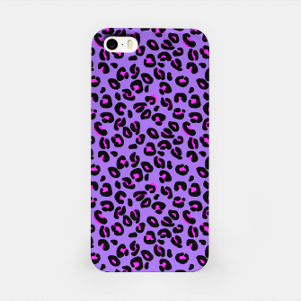 Imagen en miniatura de Bright Purple Leopard Spots Animal Print Pattern iPhone Case, Live Heroes