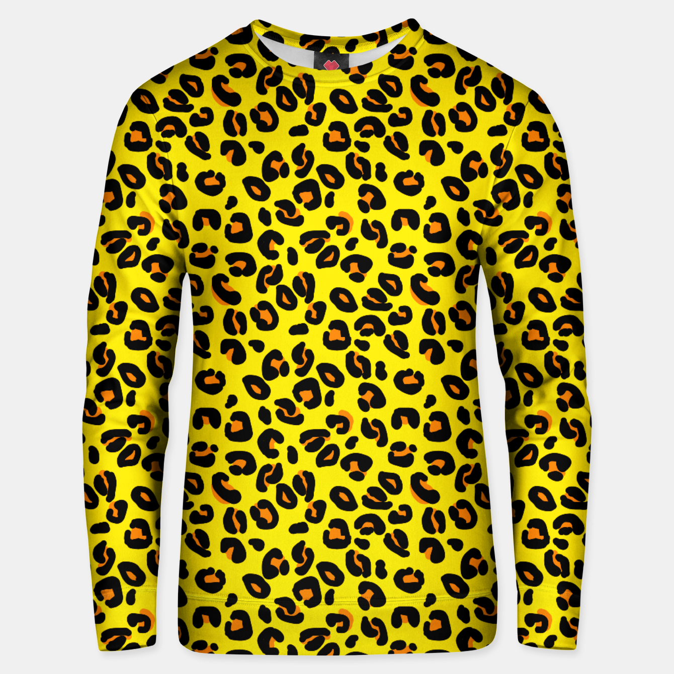 Imagen de Lemon Yellow Leopard Spots Animal Print Pattern Unisex sweater - Live Heroes