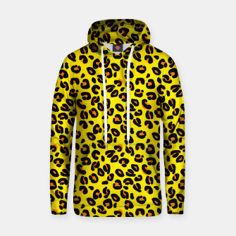Lemon Yellow Leopard Spots Animal Print Pattern Hoodie imagen en miniatura