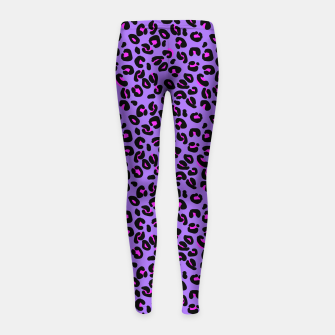 Imagen en miniatura de Bright Purple Leopard Spots Animal Print Pattern Girl's leggings, Live Heroes