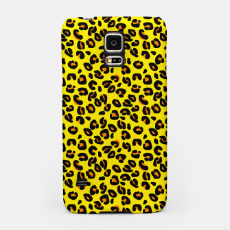 Lemon Yellow Leopard Spots Animal Print Pattern Samsung Case imagen en miniatura