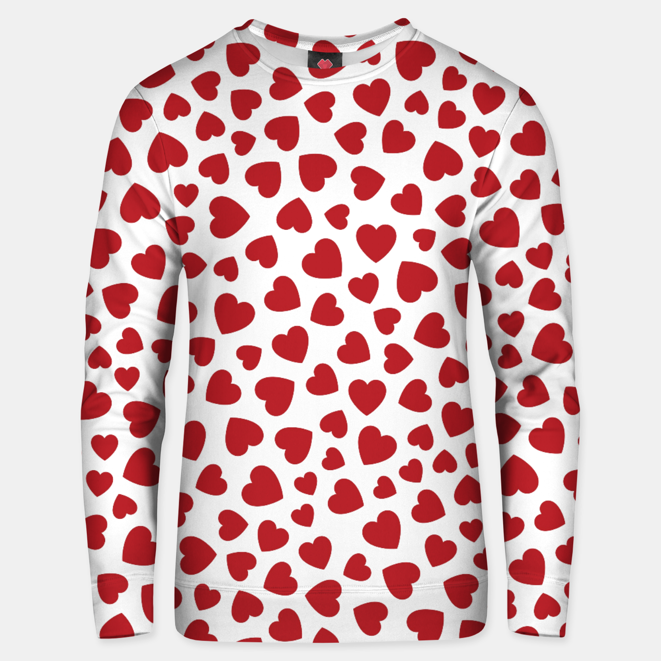 Image of Whole Lotta Love Hearts Pattern Unisex sweater - Live Heroes