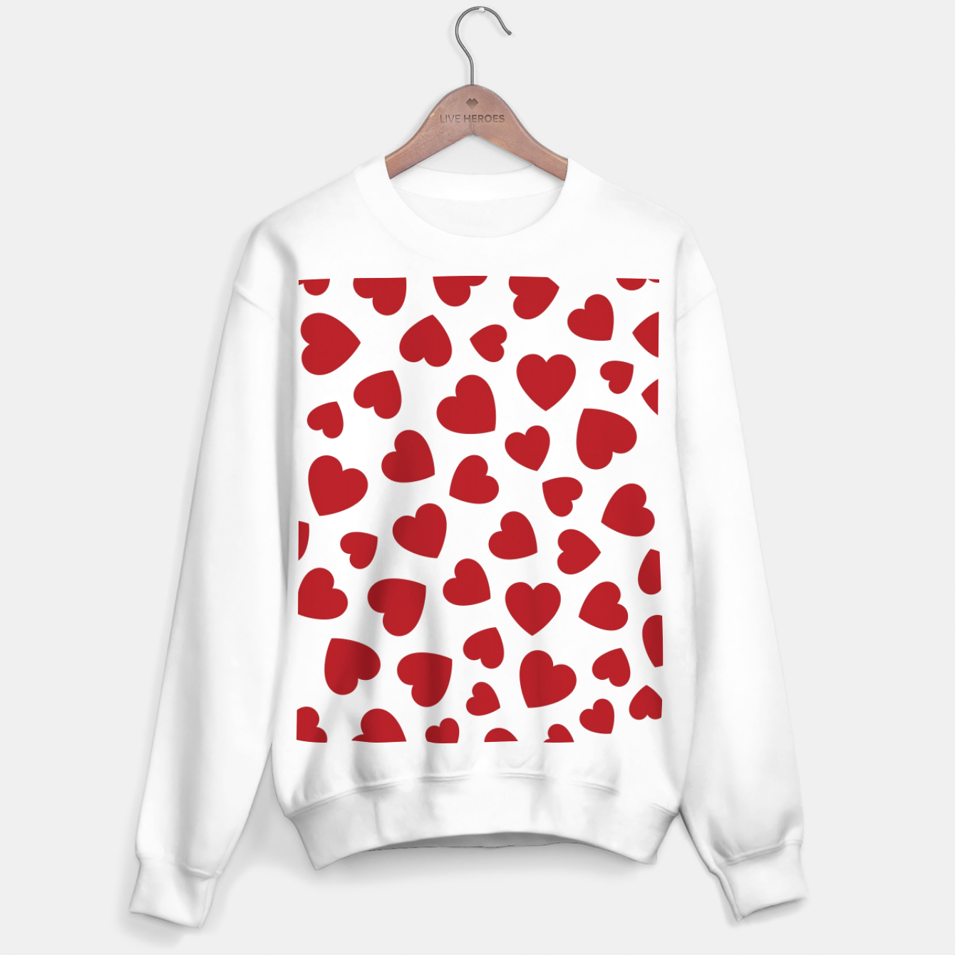 Image of Whole Lotta Love Hearts Pattern Sweater regular - Live Heroes