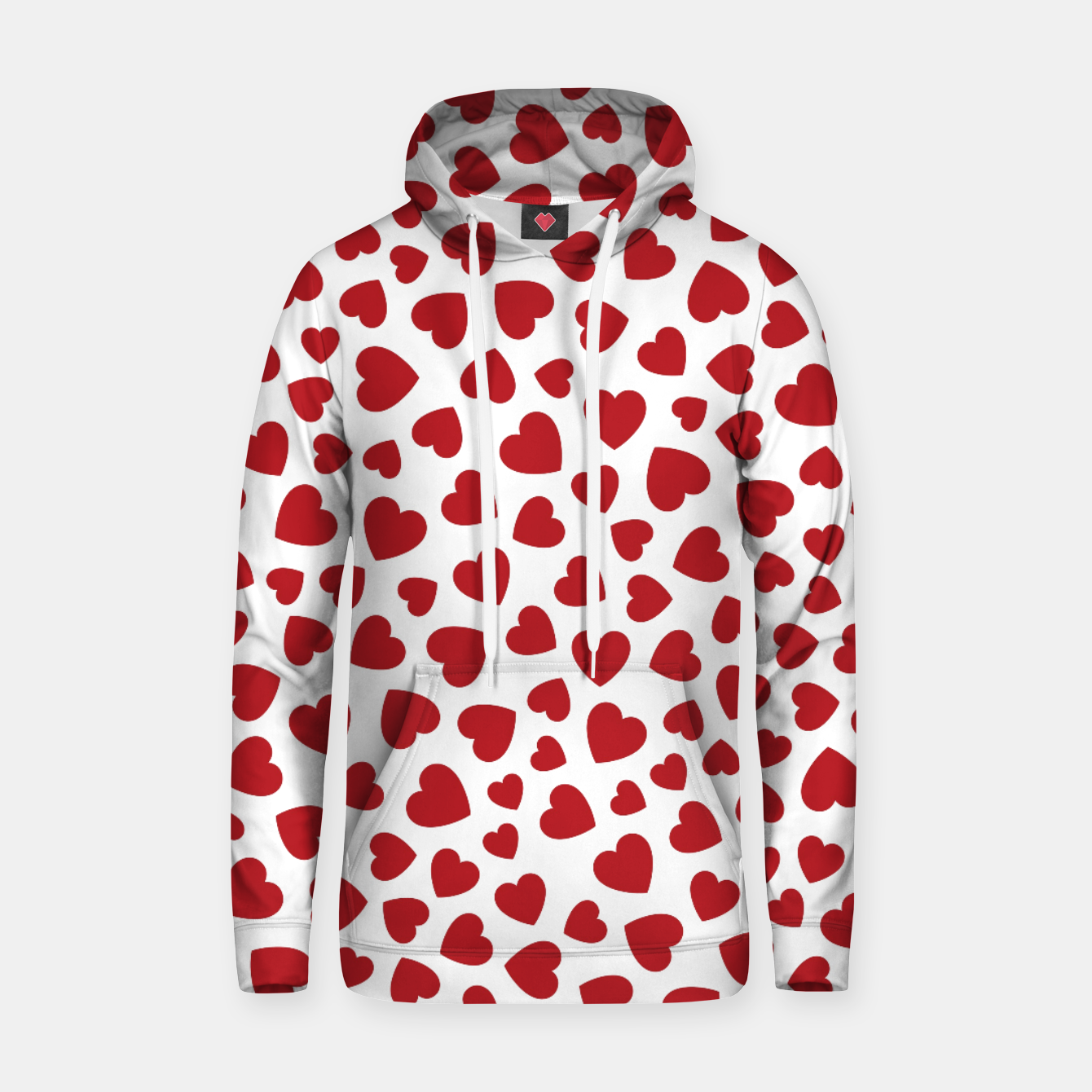 Image of Whole Lotta Love Hearts Pattern Hoodie - Live Heroes