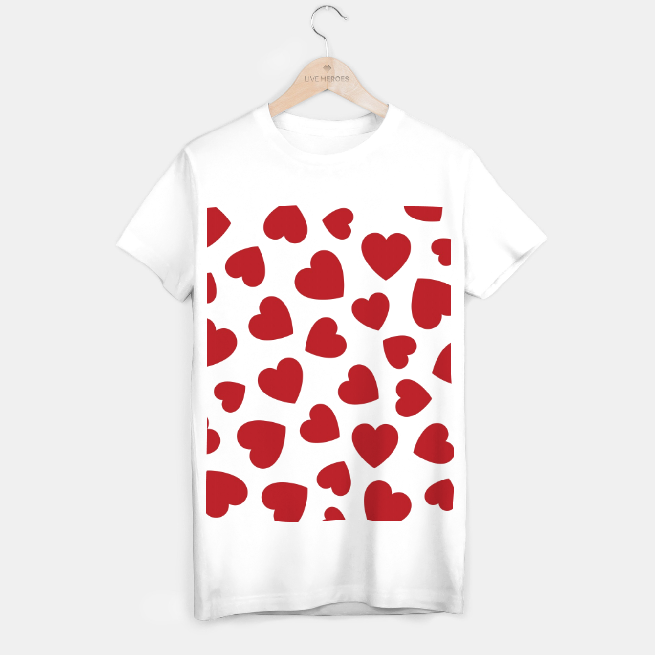 Image of Whole Lotta Love Hearts Pattern T-shirt regular - Live Heroes