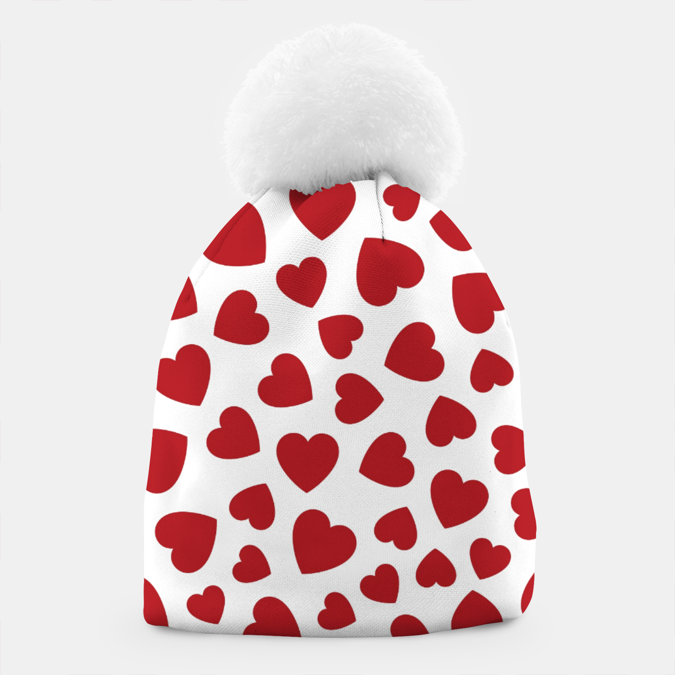 Image of Whole Lotta Love Hearts Pattern Beanie - Live Heroes
