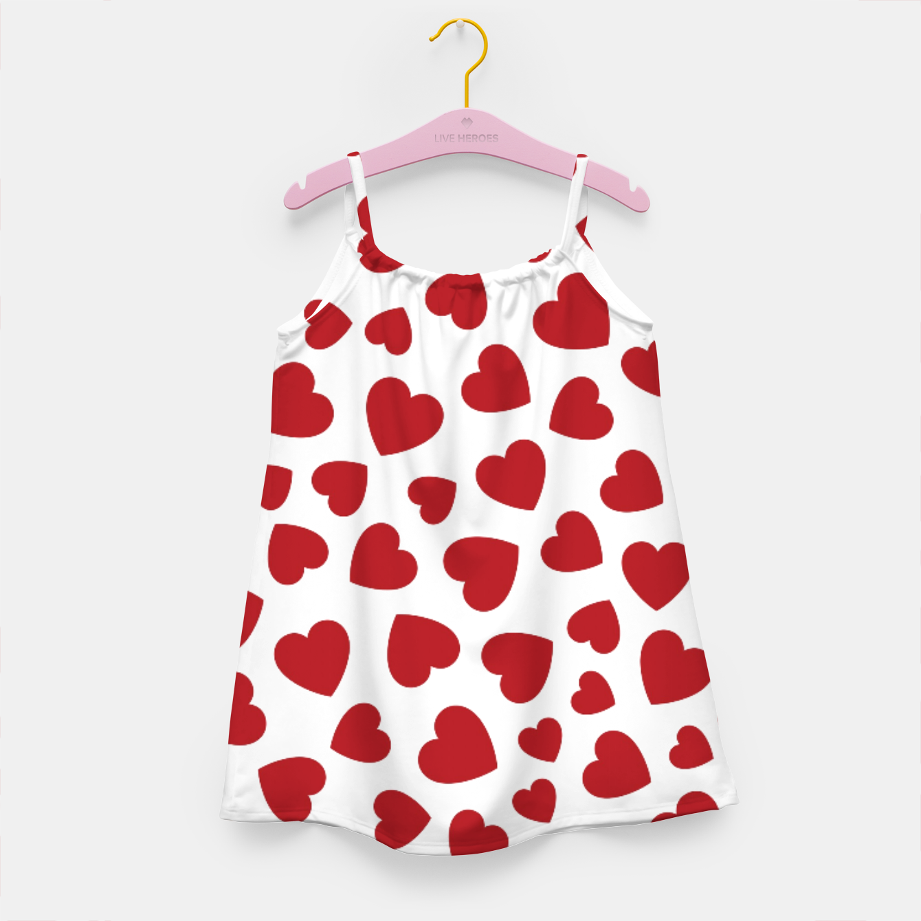 Image of Whole Lotta Love Hearts Pattern Girl's dress - Live Heroes