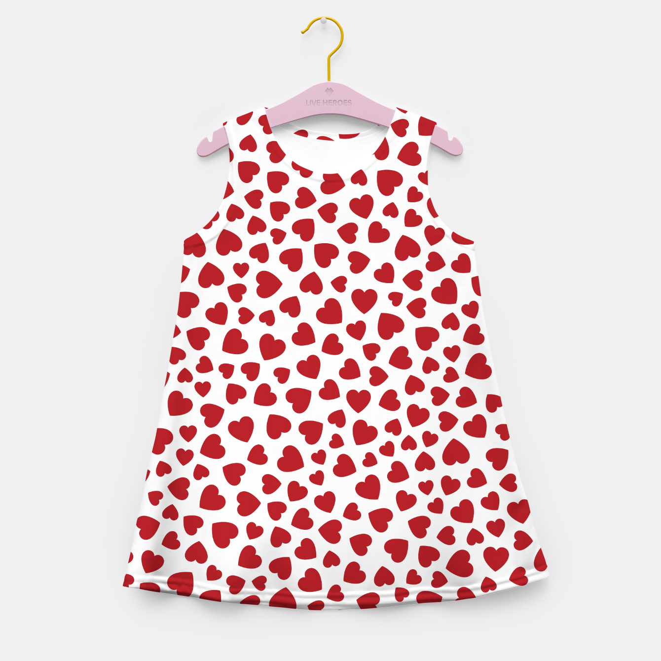 Image of Whole Lotta Love Hearts Pattern Girl's summer dress - Live Heroes