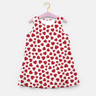 Thumbnail image of Whole Lotta Love Hearts Pattern Girl's summer dress, Live Heroes