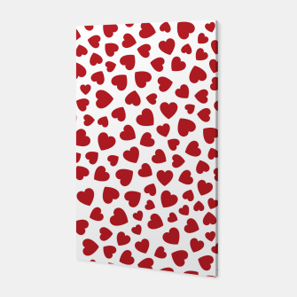 Whole Lotta Love Hearts Pattern Canvas thumbnail image