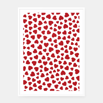 Whole Lotta Love Hearts Pattern Framed poster thumbnail image
