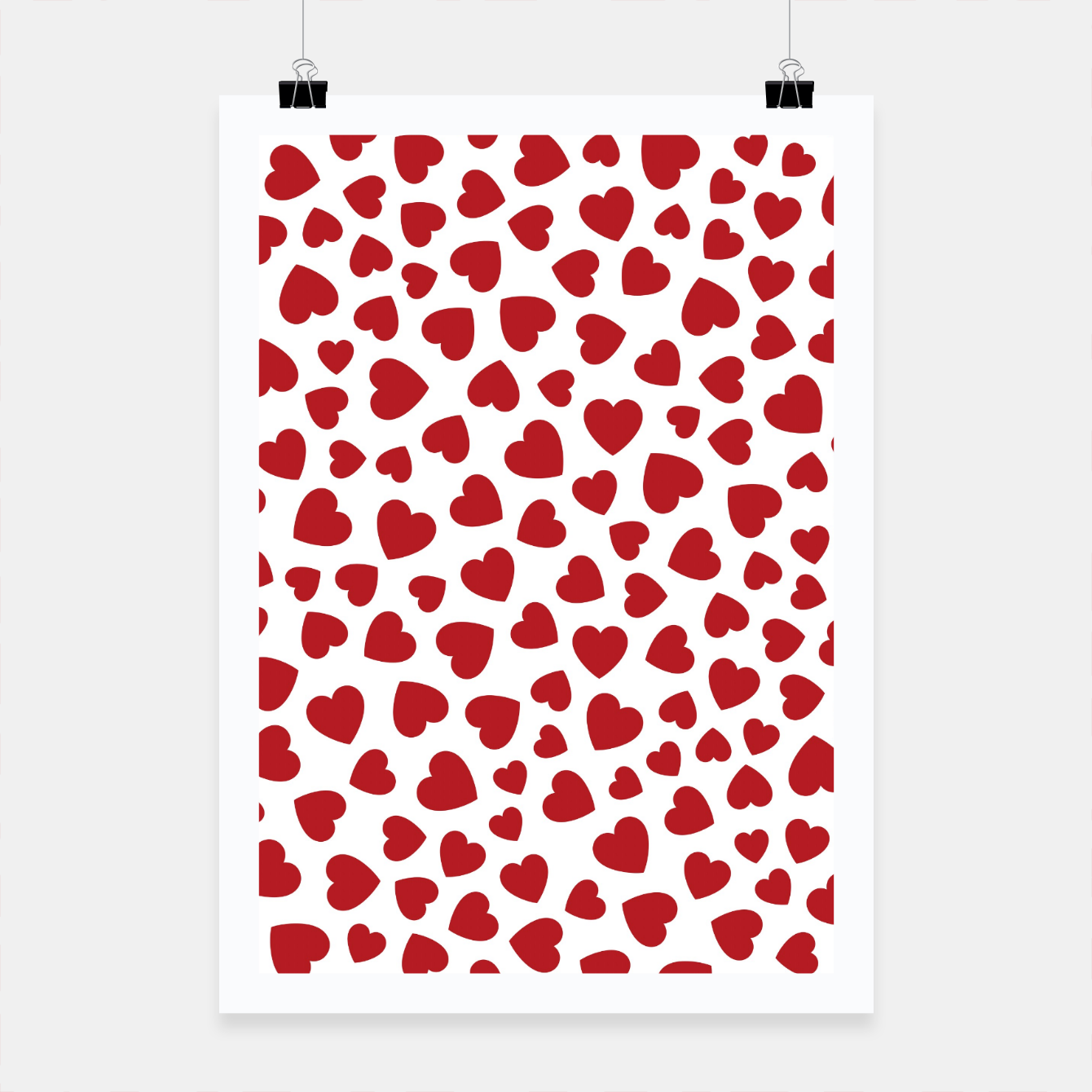 Image of Whole Lotta Love Hearts Pattern Poster - Live Heroes
