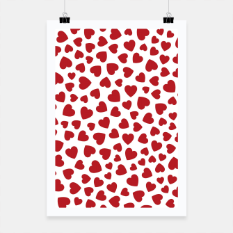 Thumbnail image of Whole Lotta Love Hearts Pattern Poster, Live Heroes