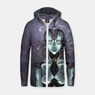 Thumbnail image of Meditating Android Zip up hoodie, Live Heroes
