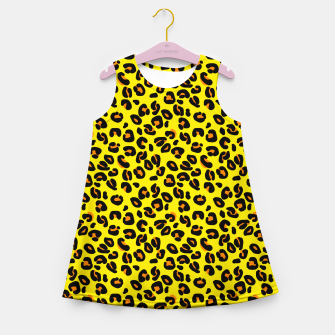 Imagen en miniatura de Lemon Yellow Leopard Spots Animal Print Pattern Girl's summer dress, Live Heroes