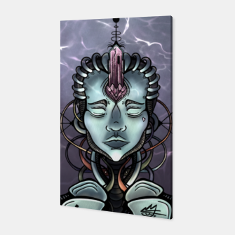 Thumbnail image of Meditating Android Canvas, Live Heroes