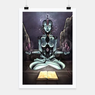 Thumbnail image of Meditating Android Poster, Live Heroes