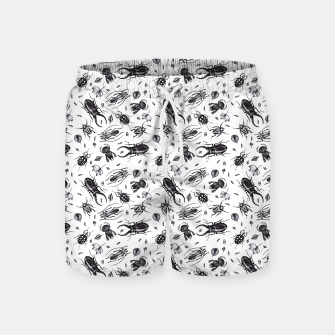 Thumbnail image of Bugs bugs bugs B&W Swim Shorts, Live Heroes