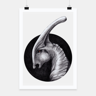 Thumbnail image of Albino Parasaurolophus Poster, Live Heroes