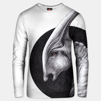 Thumbnail image of Albino Parasaurolophus Unisex sweater, Live Heroes