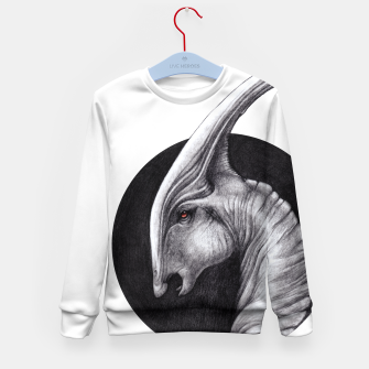 Thumbnail image of Albino Parasaurolophus Kid's sweater, Live Heroes
