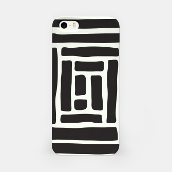 Thumbnail image of Geometric Tile Network iPhone Case, Live Heroes
