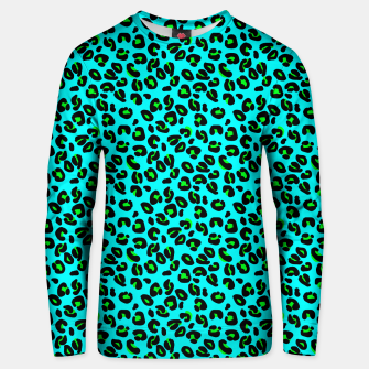 Thumbnail image of Aqua Leopard Spots Animal Print Pattern Unisex sweater, Live Heroes