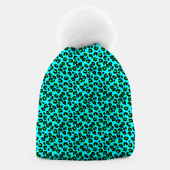 Thumbnail image of Aqua Leopard Spots Animal Print Pattern Beanie, Live Heroes