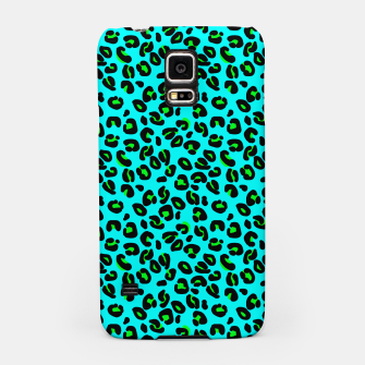 Thumbnail image of Aqua Leopard Spots Animal Print Pattern Samsung Case, Live Heroes