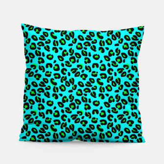 Thumbnail image of Aqua Leopard Spots Animal Print Pattern Pillow, Live Heroes