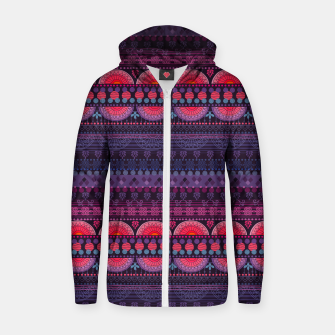 Thumbnail image of Tribal Pattern - 01 Sunset Zip up hoodie, Live Heroes