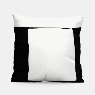 Thumbnail image of Black White Tabletop Pillow, Live Heroes