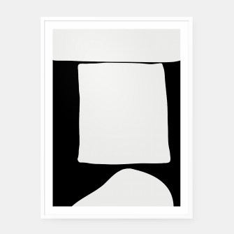 Thumbnail image of Black White Tabletop Framed poster, Live Heroes