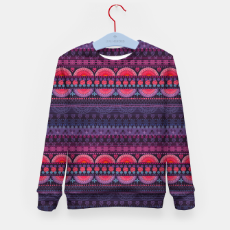 Thumbnail image of Tribal Pattern - 01 Sunset Kid's sweater, Live Heroes
