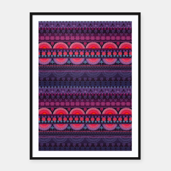 Thumbnail image of Tribal Pattern - 01 Sunset Framed poster, Live Heroes