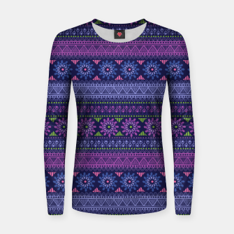 Thumbnail image of Tribal Pattern - 02 Violet Women sweater, Live Heroes