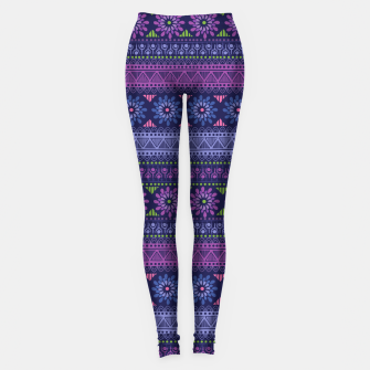Thumbnail image of Tribal Pattern - 02 Violet Leggings, Live Heroes